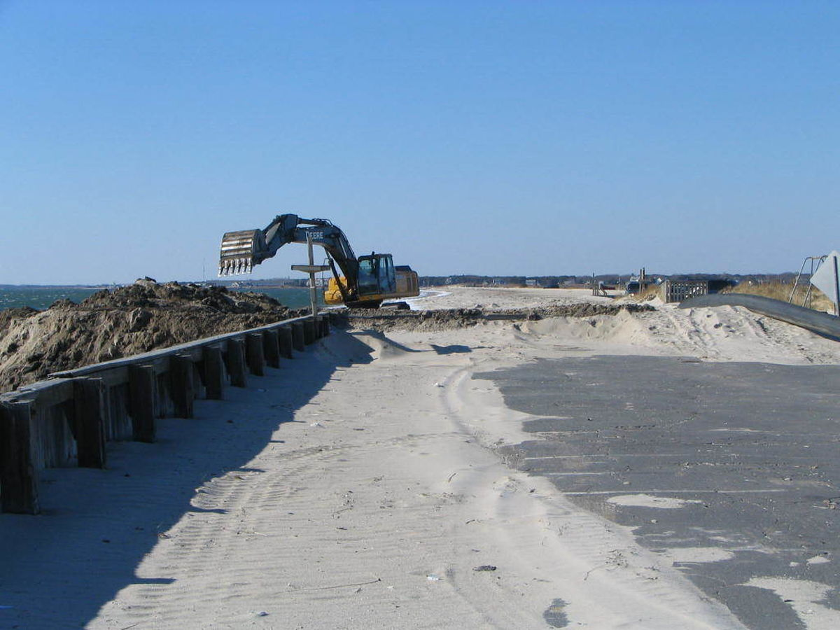 West Dennis Beach And Swan Pond River Dune Construction 3